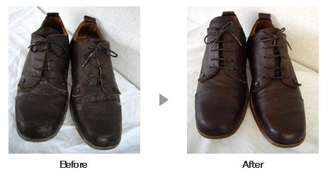 革靴・ブーツ クリーニング ビフォーアフター3